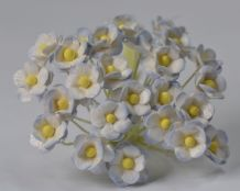 1.3cm LIGHT 2tone BABY BLUE DOUBLE-LAYERED Daisy Mulberry Paper Flowers